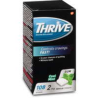 Thrive - Nicotine Gum 2mg - Cool Mint, 108 Each