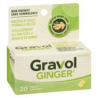 Gravol Gravol - Natural Source Antinauseant - Ginger Dried Root, 20 Each