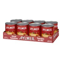 8 pack of 796ml diced tomatoes. Made from vine-ripened tomatoes.
