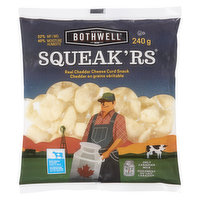 Bothwell - Squeak'rs 100% Real Cheddar Cheese Curd Snack, 240 Gram