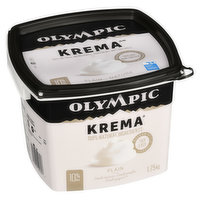 Greek Style Thick and Rich Yogurt 11% M.F. 100% Natural Ingredients, No Gelatin and No Gluten.