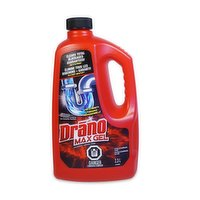 Drano has your back with maximum strength for your worst clogs. Drano Max Gel pours through standing water and works fast to clear clogged drains and restore them to a free-flowing state.