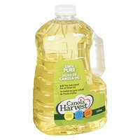 100% Pure Canola Oil. 1/2 The Saturated Fat of Olive Oil. Cholesterol Free, Source of Omega-3, Trans Fat Free.