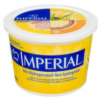 Non-hydrogenated Imperial soft margarine is made from the goodness of soya oil and has a deliciously creamy, melt in your mouth taste. It is perfect for spreading, topping, frying and baking.