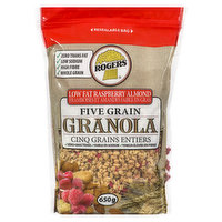 Rogers Rogers - Five Grain Almond Granola Low Fat Raspberry, 700 Gram