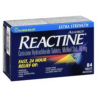 Reactine - Reactine Extra Strength Tablets, 84 Each