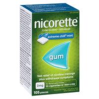 Nicorette - Nicotine Gum 2mg - Extreme Chill Mint