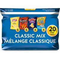 Frito Lay - Chip Snacks Classic Mix - Variety Pack, 20 Each