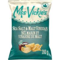 Miss Vickies - Kettle Cooked Potato Chips - Sea Salt & Malt Vinegar, 200 Gram