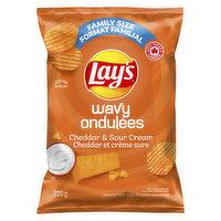 Lays - Wavy Cheddar & Sour Cream Chips, 220 Gram