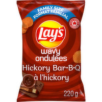 Lays - Wavy Hickory BBQ Chips, 220 Gram