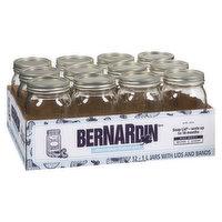 Bernardin - Decorative Mason Jars, 12 Each
