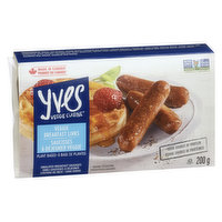 With the authentic taste and aroma of regular breakfast sausages and a mild maple syrup flavour, these delicious low-fat links are a good source of protein without the cholesterol or preservatives.