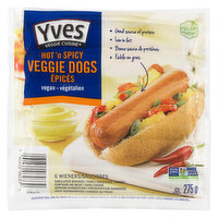 Vegan Good Source of Protein. Simulated Wieners Contains No Meat. Packed with a unique blend of spicy herbs, these chili-flavoured veggie wieners wake up your taste buds and put your hunger to sleep.