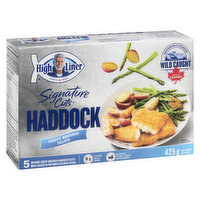 Frozen 5 Premium haddock fillets wrapped in a crunchy golden breadcrumb crust. It's crispy on the outside, with moist flaky fish on the inside. Wild caught in the Northeast Atlantic Ocean.