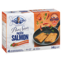 Frozen 4 Lightly Breaded Whole Pink Salmon Fillets with Oregano, Rosemary & a Hint of Tomato.