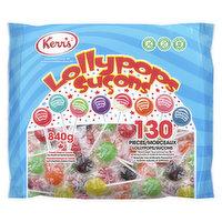Kerrs - Lollipops - Assorted, 130 Each