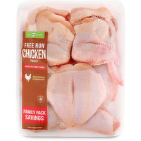 Free run chicken. Raised on family farms. Great for frying.