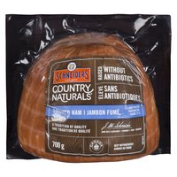 Ham with Natural Ingredients. Gluten Free, No Preservatives. Water, Sea Salt, Vinegar, Lemon Juice Concentrate, Cane Sugar, Cultured Celery Extract, Spice, Smoke. Gluten Free.