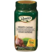 For garlic lovers who cant get enough, try Renes Mighty Caesar. Loaded with fresh garlic and Parmesan cheese, it tastes every bit as good as homemade, and packs a mighty punch.