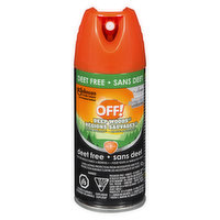 Deet free. Long lasting protection from mosquitoes and ticks.Aerosol spray allows for application in a continuous sweeping motion.