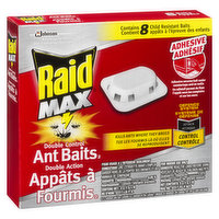 2 types of bait to attract and kill ants. After ants feed on the bait, they return to the colony and transfer the bait to the queen and the others. Double Control Ant Baits are child resistant.