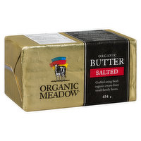 A smooth, great tasting salted butter. Made the old fashioned way, using fresh organic cream from local organic farms.