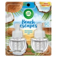 Contains natural essential oils for a better fragrance experience. Provides up to 45 days of continuous & long lasting scent per refill. Use in any room to escape to the perfect beach get away!