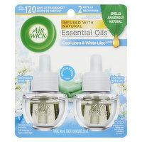 Air Wick - Essential Oils Refills - Cool Linen & White Lilac, 2 Each