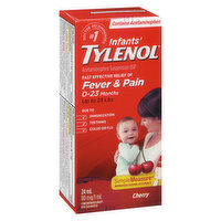 For Ages 0-23 Months for Fast Effective Relief of Fever & Pain due to Immunization, Teething, Colds or Flu.  For up to 23lbs.