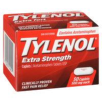 Tylenol Tylenol - Extra Strength Caplets 500mg, 50 Each