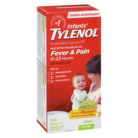 Acetaminophen Suspension USP. 1.0ml/80mg. White Grape FlavourFast effective relief f Fever & Pain Due to Immunization, Teething, Colds or Flu.For Ages 0-23 Months. Dye Free Concentrated Drops.