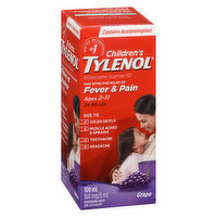 Acetaminophen Suspension USP. Grape Punch Flavour.  For ages 2-11 years.  For Fever and Pain. 5ml/160mg Suspension Liquid.