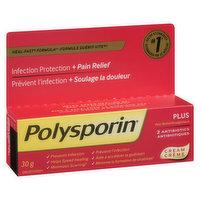Polysporin - Plus Pain Relief 2 Antibiotics Cream, 30 Gram