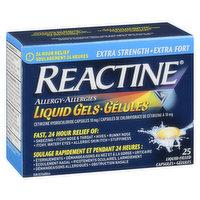 Reactine - Allergy Liquid Gels - 10 mg, 25 Each