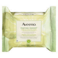 Aveeno - Make Up Removing Wipes Positively Radiant, 25 Each