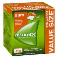 Nicorette - Nicotine Gum 2mg - Fresh Fruit, 210 Each