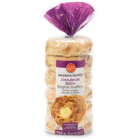 No artificial colours of flabvours. 6 English muffins.