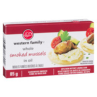 Western Family - Whole Smoked Mussels in Oil