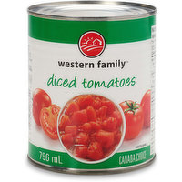 Canned diced tomatoes. Canada choice. Kosher.