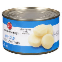 Western Family - Whole Water Chestnuts