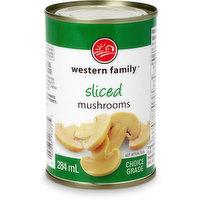 Choice grade, canned sliced mushrooms.