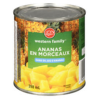 Canned Pineapple Chunks in Pineapple Juice.