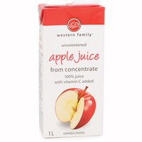 Western Family - Apple Juice Unsweetened, 1 Litre