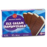 Frozen 12x100ml Ice Cream Sandwiches.