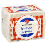 Western Family - Luncheon Napkins - White, 200 Each
