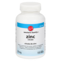Western Family - Zinc Citrate - Tablets
