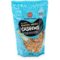 Western Family - Whole Cashews R&S, 300 Gram