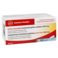 Western Family - Extra Strength Acetaminophen Tablets 500Mg
