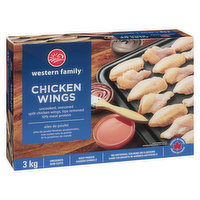 Uncooked Frozen Seasoned Split Chicken Wings Tips Removed  10% Meat Protein